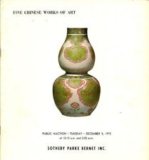 SOTHEBY'S CHINESE CERAMICS SNUFF BOTTLES Ming Ching Auction Catalog 1972