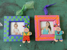CUTE!  Handmade Picture Photo Frames (set of 2) – Wall Hanging Art Kids Children