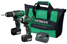 HITACHI KC10DFL 12V Peak 1.5Ah LIoN Drill and Impact Driver Combo Kit