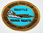 Vintage Seattle Seafair Boat Club Hydro Foil Emerald Cup 1983 Racing Patch New