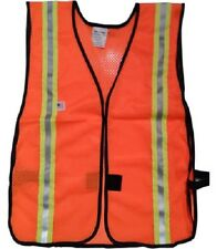 NEW Soft Mesh Orange Safety Vests with 1.5 inch Yellow/Silver Stripes