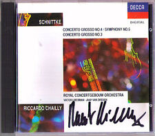 Riccardo CHAILLY Signiert SCHNITTKE Concerto Grosso No.3 & 4 (Symphony No.5) CD