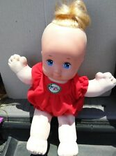 Magic Nursery Blonde Baby Doll Holiday Red Outfit