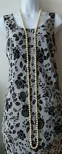 """Cream Color Glass Pearl Strand Necklace 72"""" Long Flapper Style"""