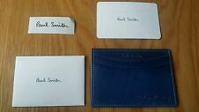 Paul Smith Card Holder Hand Burnished Blue