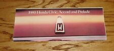 Original 1980 Honda Civic Accord Prelude Foldout Sales Brochure 80
