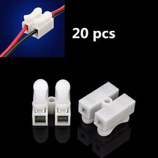 20Pcs Quick Fix Spring Clamp Terminal Block LED Strip Light Wire Connector 2 Way