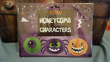 Halloween Tesco's Honeycomb Character Decorations.