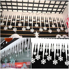 Wholesale 2pcs Snowflake Ice Strip Christmas Xmas Decoration Ornament Festival