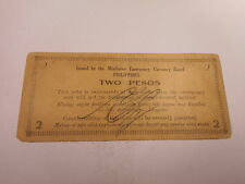 Philippines Emergency Currency Mindanao WWII Two Pesos Nice - # 187046