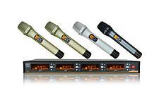 4x200 Channel UHF True Diversity Wireless Karaoke Microphone for shure wireless