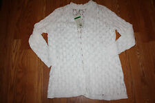 NWT Womens LEO & NICOLE Shawl Cardigan Long Sweater Beige Half Sleeve XL