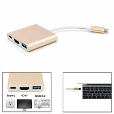 Für Apple Macbook USB 3.1 Type-C to USB-C HDMI USB 3.0 Adapter HDTV Ladegerät ※