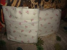 SIMPLY SHABBY CHIC FLANNEL NEW CASTLE ROSE TALLOW FLORAL (2PC) TWIN SHEET SET