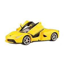 Ferrari La Radio Remote Control Model Car RC 1/14 Scale RTR Open Doors -Yellow