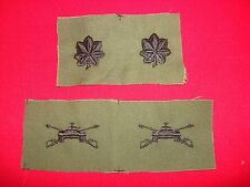 2 Sets Of Subdued Collar Patches: Pair Of US Army LT COLONEL + Pair Of ARMOR