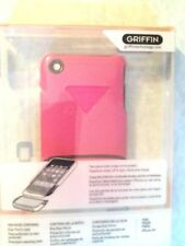 Griffin Pink Leather Easy Dock Case Cover for iPhone 3G 3Gs Screen Protector