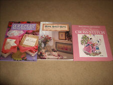 3 Cross Stitch Books-Home Sweet Home- Four Seasons & Quick & Easy Books