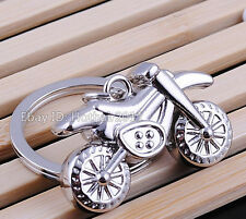 Spring Party Mini Motorcycle Motocross Metal Keychain Zinc Alloy Toy Boy Art Men