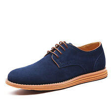 Fashion Men Genuine Suede Leather Shoes New Oxfords Casual Lace Up Shoes Comfort