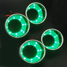 Cheap 4X 8LED's S.S Green Cup Drink Holder Marine Boat Car Truck RV