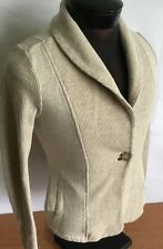 Banana Republic Cardigan Sweater Shawl Collar Oatmeal Heather Women Sz XS Cotton
