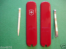 NEW SWISS ARMY VICTORINOX 74mm  RED SCALES W/TOOTHPICK & TWEEZER FREE SHIP