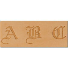3/4 inch (19.0 mm) OLD ENGLISH ALPHABET LEATHER STAMPING SET  by TANDY