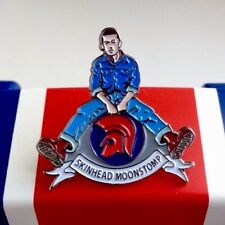 Oi! Skinhead Pin Badge, Walt Jabsco, Scooter Rally, Vespa, Lambretta, Ska, Mods.