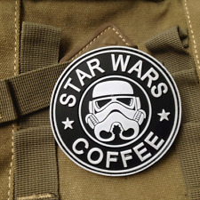 Cartoon STAR WARS COFFEE TACTICAL ARMY MORALE AIRSOFT 3D PVC RUBBER VELCRO PATCH