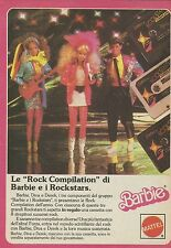 X1060 BARBIE - Rockstars - Mattel - Pubblicità 1986 - Advertising