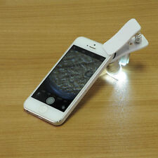 60X Optical LED Clip Zoom Mobile Phone Camera Magnifier Microscope Micro Lens