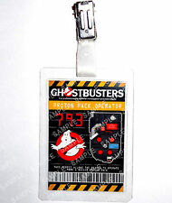 Ghostbusters ID Badge Proton Pack Permit Cosplay Prop Costume Novelty Halloween