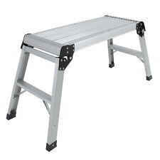 Hot Sale Aluminum Platform Drywall Step Up Folding Work Bench Stool Ladder