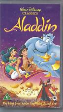 WALT DISNEY Original Classic ALADDIN on VHS Video. Excellent Condition