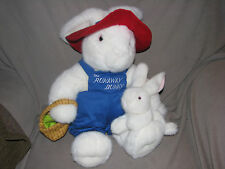 "The Runaway Bunny Large 19"" Plush Stuffed Rabbit Baby Basket Easter From Book"
