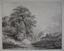 F. RECHBERGER `DIE KUHHERDE HINTER DEM HÜGEL; COW HERD BEHIND A HILL´ ~1800