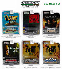 HOLLYWOOD SERIES / RELEASE 13, SET OF 6 CARS 1/64 DIECAST BY GREENLIGHT 44730