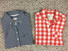 Lot of 2 AMERICAN EAGLE (Sz 2) & ABERCROMBIE & FITCH (Sz S) Button Down Shirts