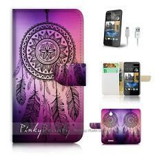 HTC Desire 510 Flip Wallet Case Cover! P0420 Dream Catcher