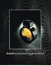 PUBLICITE  1978   AZZARO    le parfum dédié à la grace des femmes