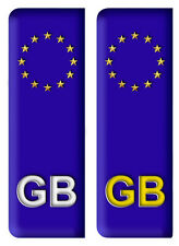 Pair GB Euro Number Plate Vinyl Car Sticker EU European Road Decal Badge A3