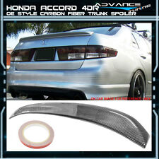 03-05 Honda Accord 4D 4Dr 4Door OE Factory Style CF Carbon Fiber Trunk Spoiler