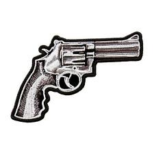 Assassin Ring Gun outlaw anarchy pistol 5 inch iron on MC BIKER PATCH