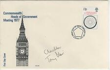 TONY BLAIR + CHERIE - SIGNED - FIRST DAY ENVELOPE - RARE