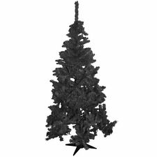 4FT/5FT/6FT FERN GREEN PINE CHRISTMAS TREE ARTIFICIAL X-MAS BLACK WHITE GREEN
