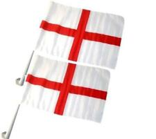 2x England Car Window Flags St Georges Cross Football 2016 Support Your Team NEW