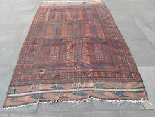 "Antique Shabby chic HANDMADE Afghan Baluch Wool Browns Carpet 281x181cm 9'4""x6'"