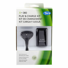 Rechargeable 4800mAh Battery Pack With Cable For Xbox 360 Controller Black