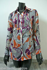 BiBA * Leicht Locker Sitzende Bluse * Semitransparent * Schöne Verzierung * XS